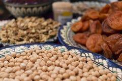 Высушенные плодоовощи и горохи цыпленока Стоковое Изображение RF