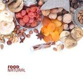 высушенные плодоовощи nuts Стоковое Изображение RF