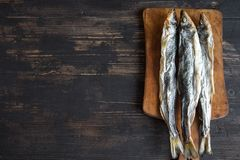 Высушенные рыбы, снетки Стоковое Изображение RF