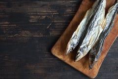 Высушенные рыбы, снетки Стоковое Фото