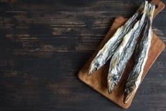 Высушенные рыбы, снетки Стоковое фото RF