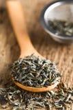 Высушенные свободные листья зеленого чая стоковая фотография rf