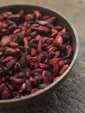 высушенные тарелкой семена pomegranate Стоковое Изображение RF