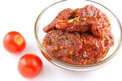 высушенные томаты оливки масла Стоковые Фотографии RF