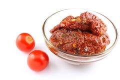 высушенные томаты оливки масла Стоковое Изображение RF