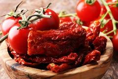 высушенные томаты солнца солнц-высушенные половины томата Стоковое Изображение RF