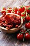 высушенные томаты солнца солнц-высушенные половины томата Стоковые Изображения RF