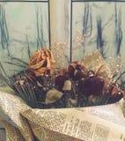 Высушенные цветки в букете стоковые фото