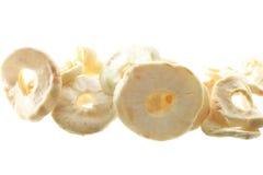 Высушенные яблоки изолированные на белой предпосылке Стоковые Изображения RF