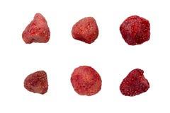 Высушенные ягоды клубники изолированные на белизне Стоковое Фото