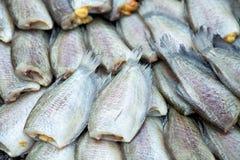 Высушенные fishs местной еды на открытом рынке, Таиланде Стоковое фото RF