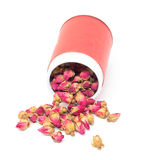 Высушенные Rosebuds в красном цвете могут Стоковые Фотографии RF