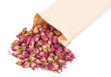 Высушенные rosebuds и сумка Стоковое Изображение RF