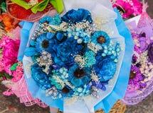 Высушенный букет цветков в цветочном магазине. Стоковые Изображения RF
