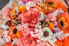 Высушенный букет цветков в цветочном магазине. Стоковые Фото