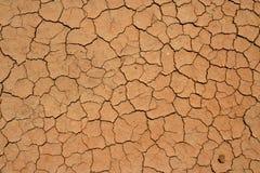 Высушенный - вне и треснутая почва в пустыне Стоковые Фотографии RF