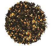 Высушенный зеленый цвет - чай плодоовощ стоковое фото
