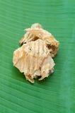 Высушенный кальмар на зеленых лист Стоковые Фотографии RF