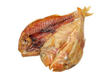 2 высушенный крупный план принятый goatfish изолировано Стоковые Фотографии RF