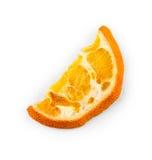 Высушенный оранжевый кусок изолированный на белизне Стоковые Изображения