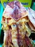 высушенный посоленный кальмар Стоковая Фотография RF
