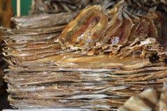 высушенный стог рыб стоковое изображение