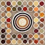Высушенный супер образец еды Стоковая Фотография RF