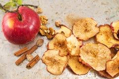 высушенный циннамон яблок Стоковая Фотография
