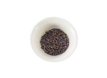 Высушенный чай лаванды в чашке Стоковое Изображение