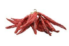 высушенный chili перчит белизну Стоковое Фото