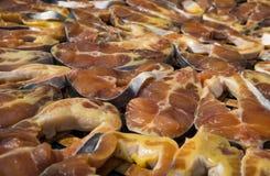 Высушенный Striped сом как тайская еда заповедника стиля Стоковое Фото