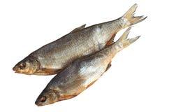 2 высушенных посоленных рыбы Стоковые Изображения