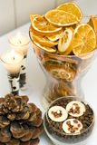 Высушено - дисплей свечек плодоовощ Стоковое Изображение RF