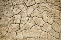 Высушите иссушанную текстурированную землю Death Valley Стоковые Изображения RF