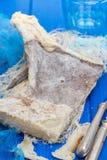 Высушите посоленных рыб трески на деревянной предпосылке Стоковые Фото