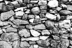 Высушите положенную стену поля каменную стоковое фото