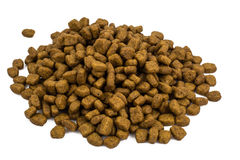 Высушите раздробленный корм для животных Стоковые Фотографии RF