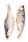 2 высушили рыб изолированных на белизне Стоковое Фото