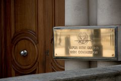 Высшая комиссия Папуаой-Нов Гвинеи, Лондона, Великобритании стоковые фотографии rf