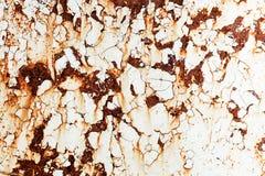 Вытравленная предпосылка белого металла Стоковая Фотография
