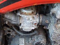 Вытравленные части мотоцикла Стоковое фото RF