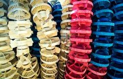 Вытравленный и треснутый старого пластичного томбуя бассейна Стоковое Фото