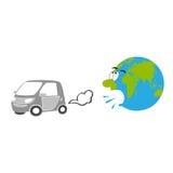Вытыхание автомобиля иллюстрация вектора