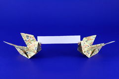 вытягивает шею origami стоковое изображение rf