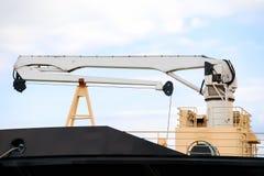 Вытягивайте шею на смычке промышленного корабля Стоковое Изображение