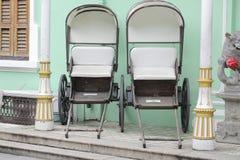 2 вытягиванная рикша Стоковая Фотография