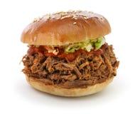 Вытягиванный сандвич свинины Стоковые Фото