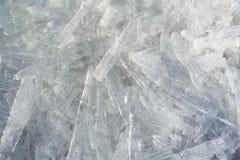Вытянутые части крупного плана льда Стоковые Изображения