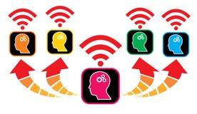 Выучите и приведите сыгранность и руководство как символ образования Стоковые Изображения RF