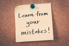 Выучите от ваших ошибок стоковое изображение rf